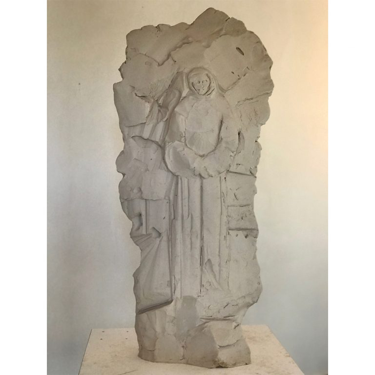 "Stela II, Water Based Clay, 30"" x 15"" x 5"""